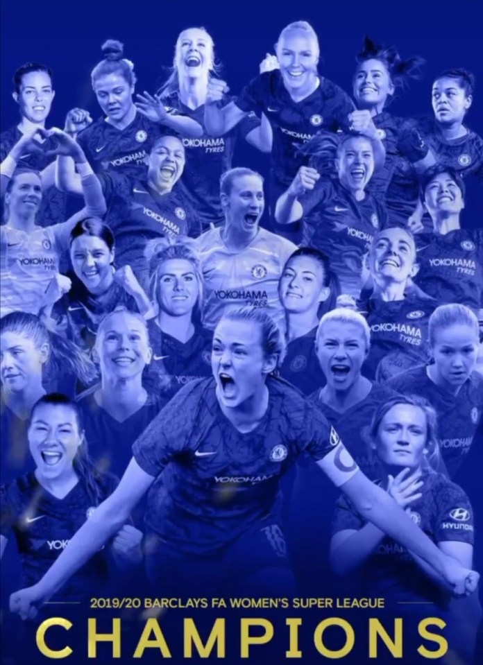 Chelsea declared English women's champions, Liverpool relegated