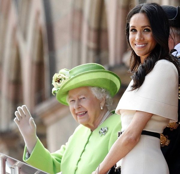 Queen Elizabeth leads royal birthday cheers for Meghan Markle