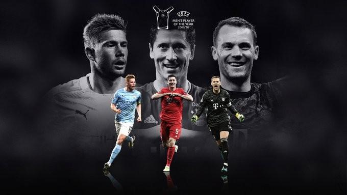 De Bruyne, Lewandowski, Neuer nominated for UEFA player award