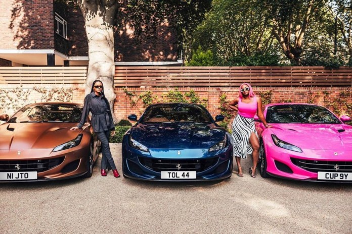Billionaire Businessman, Femi Otedola Gifts His Three Daughters Ferrari Cars With Customized Number Plates (photos)