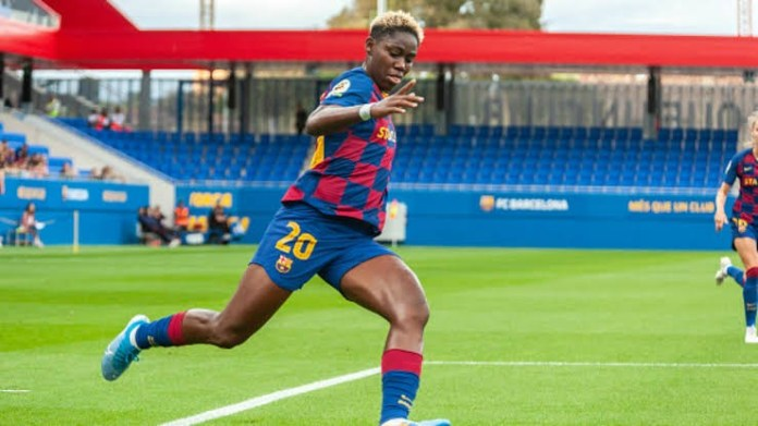 Oshoala grabs first goal of the season