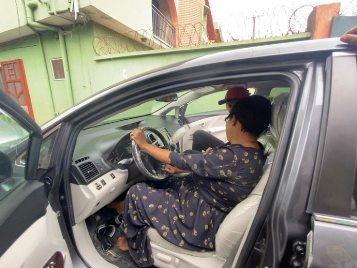 Video: Nollywood actor Alexx Ekubo surprises mother with new car
