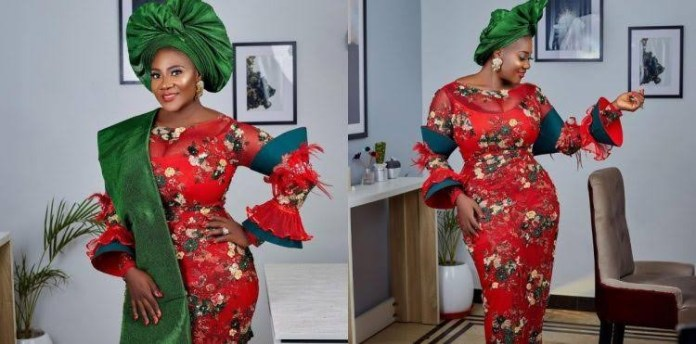 Mercy Johnson-Okojie, family in Christmas photo shoot
