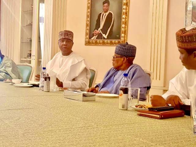 2023: Saraki in closed-door meeting with Babangida (photos)