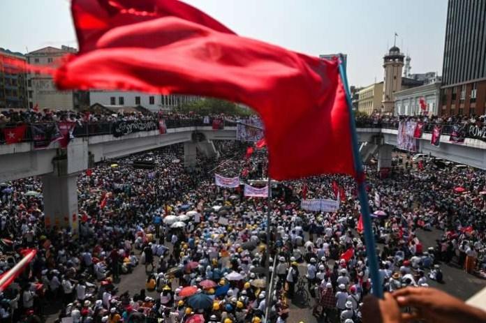 Strike shuts Myanmar, anti-coup protesters defy junta warning