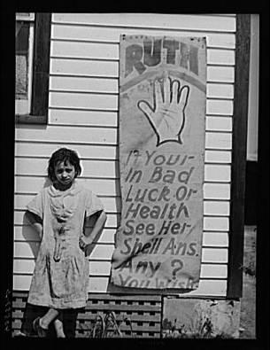 Gypsy girl, five miles south of Salisbury, Maryland