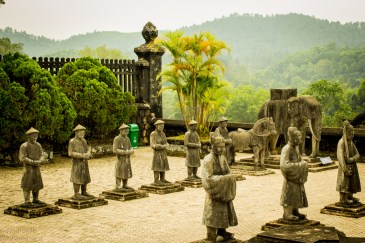 Guards at the tomb of Khai Dinh