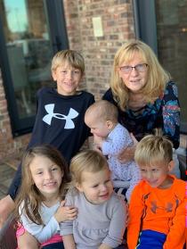 Dr. Parr with grandkids