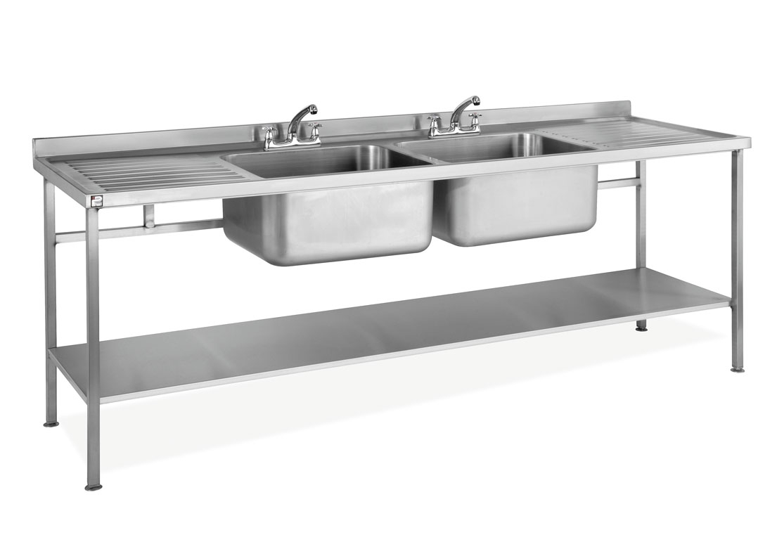 sinkdbdd stainless steel assembled sink double bowl double drainer parry
