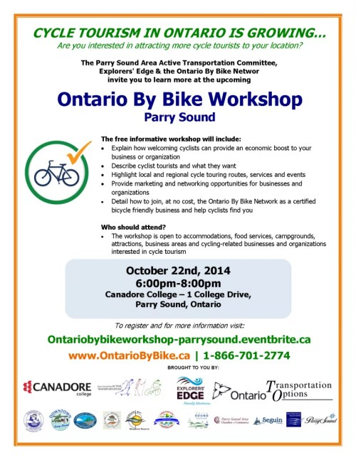 Ontario By Bike Workshop -  Parry Sound Poster - Final - v2