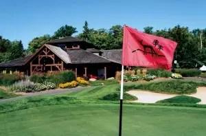 course with ridge flag