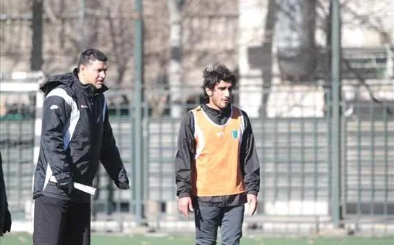 Ali Daei, the former captain of Team Melli and the current head coach of Tehran based club Rah Ahan FC