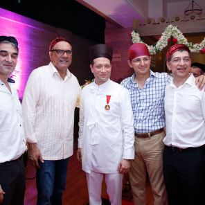 Meherab Nargolwala, Boman Irani, Jimmy Mistry, Boman Iran & Percy Chaudhry of Rustomjee Builders
