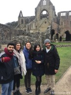At the Tintern Abbey in Wales