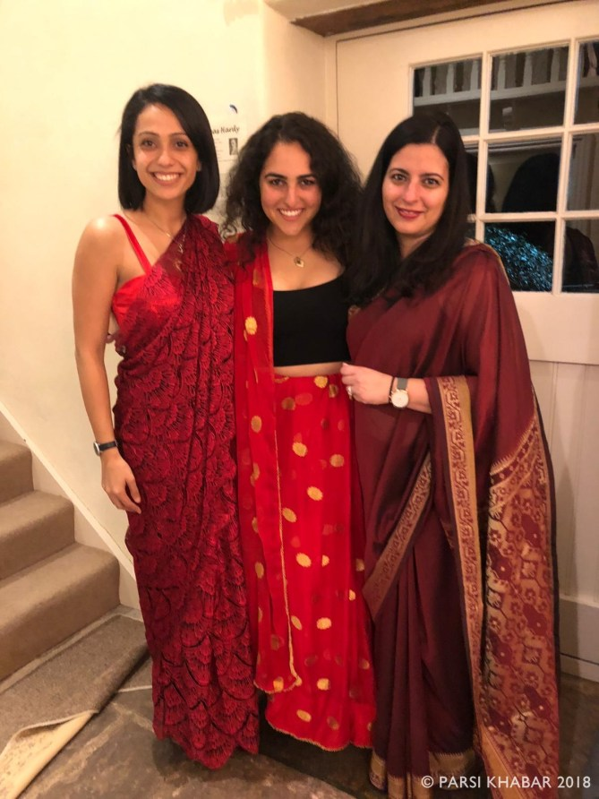 Decked up in saris on Navroze
