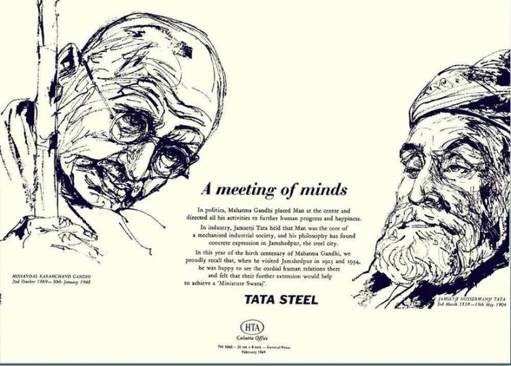 A Meeting of minds. An ad by Tata Steel