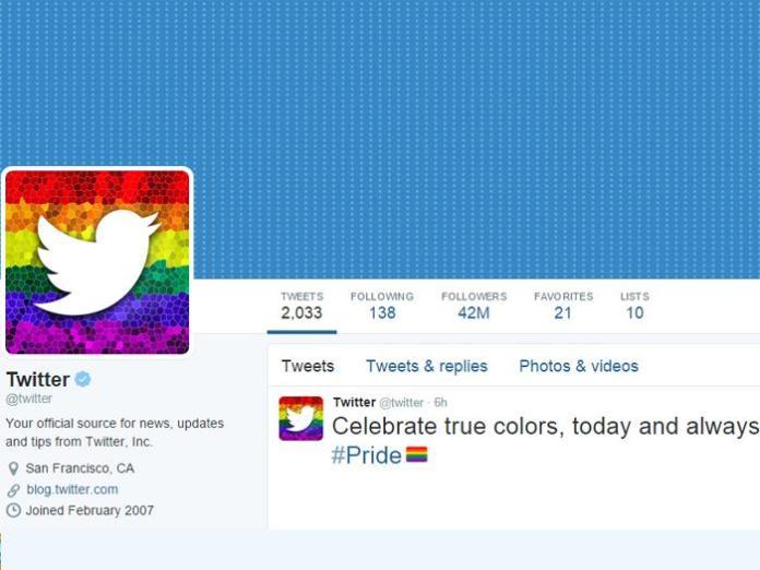 Twitter's new rainbow logo.