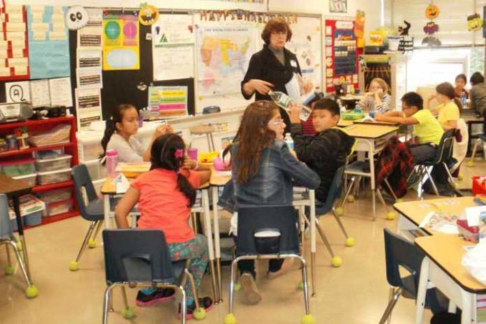 Junior Achievement Day in a 4th grade class at Northvail