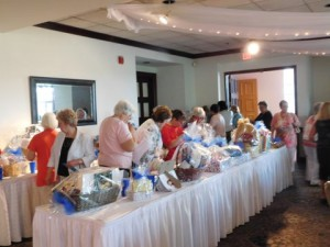 Tricky Tray items included Baskets of Cheer, Yankee tickets, restaurant gift cards, show tickets and much more.
