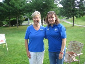 WCPTH club members Betty Lagitch and Jennifer Seeber out on the course.