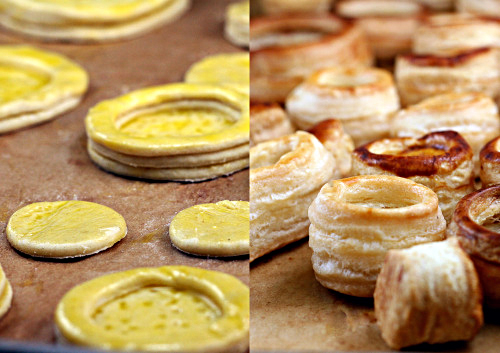 Homemade Puff Pastry and Vols-Au-Vent. Step-by-step instructions on how to make puff pastry from scratch and how to make Vols-Au-Vents with it!
