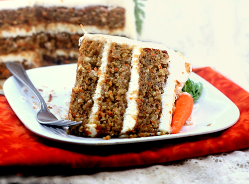 Banana Carrot Cake with Cream of Coconut - Cream Cheese Frosting