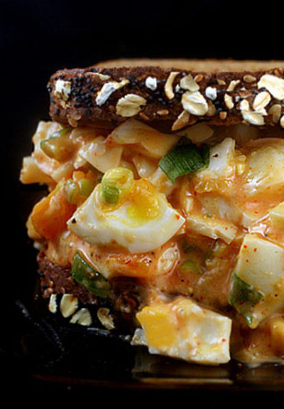 Sriracha Egg Salad using Greek Yogurt or Mayo..your choice!