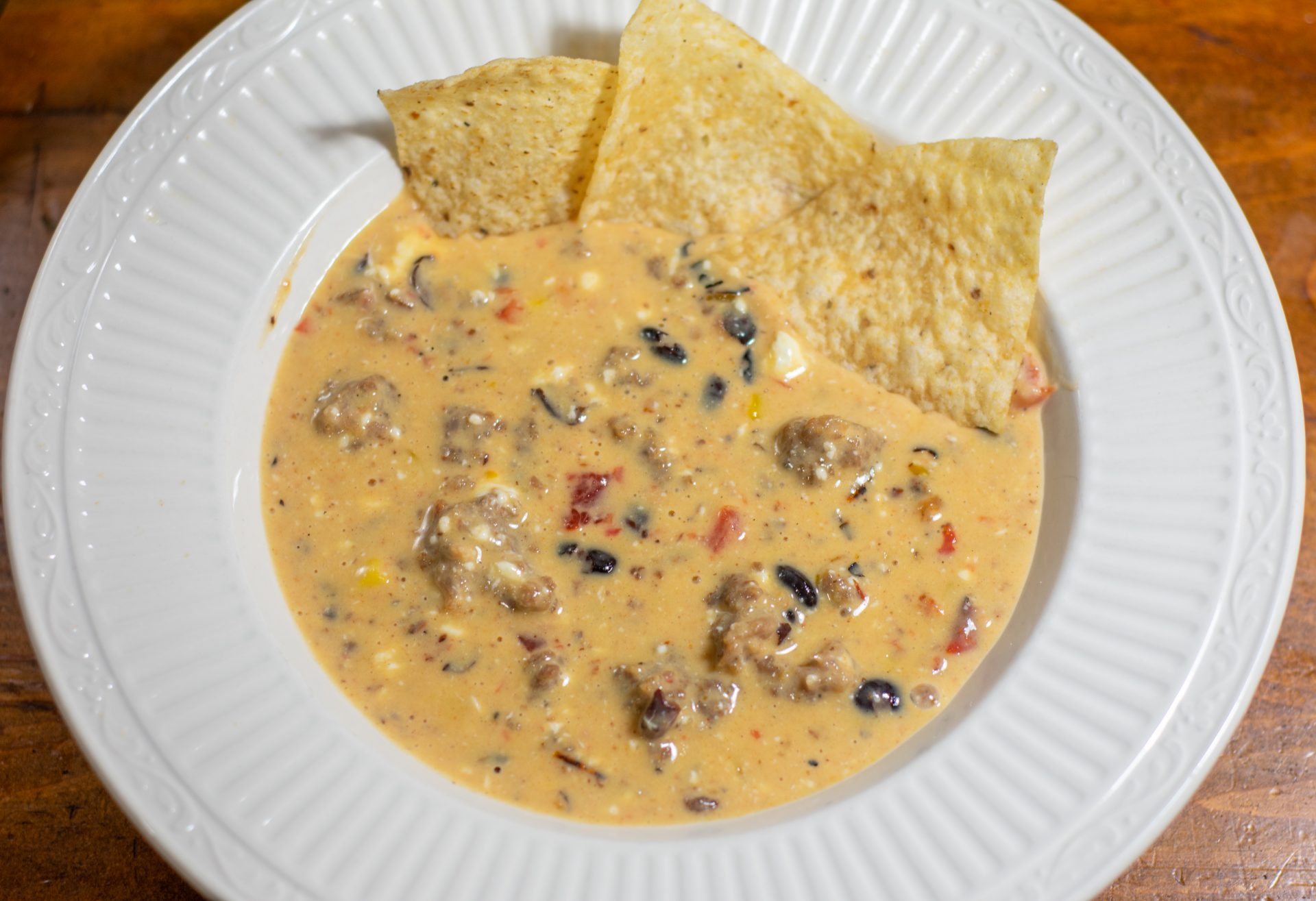 loaded crockpot cheese dip