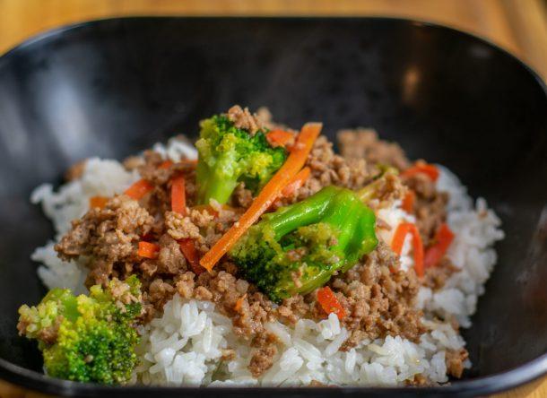 korean pork rice bowl