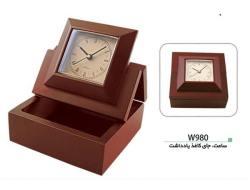 ساعت و جای کاغذیادداشت رومیزی w980