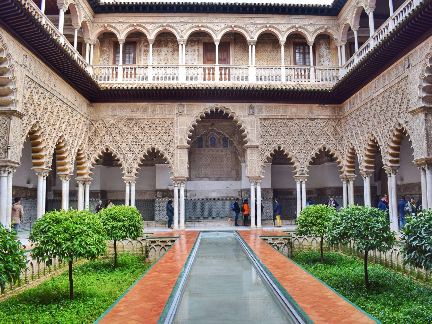 Part-time traveller in a palace in Seville