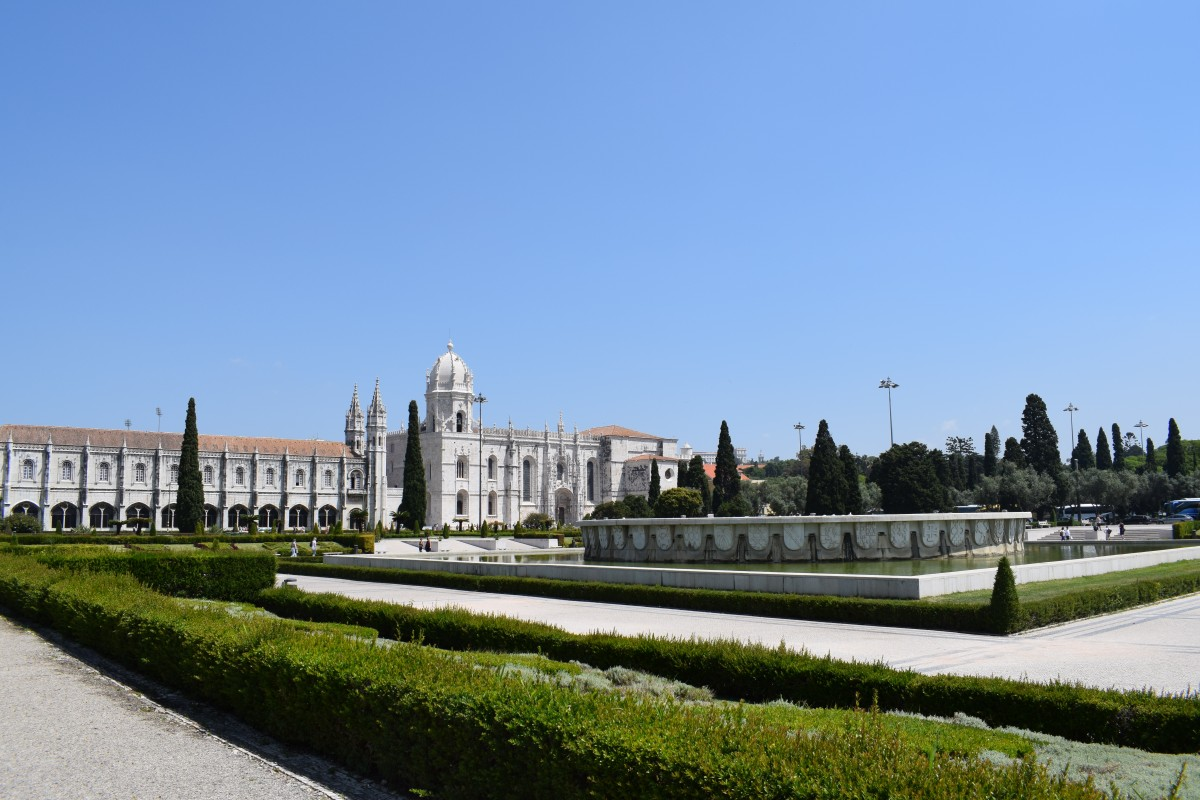View of the Jeronimo Monastery in Belem in Lisbon, Portugal