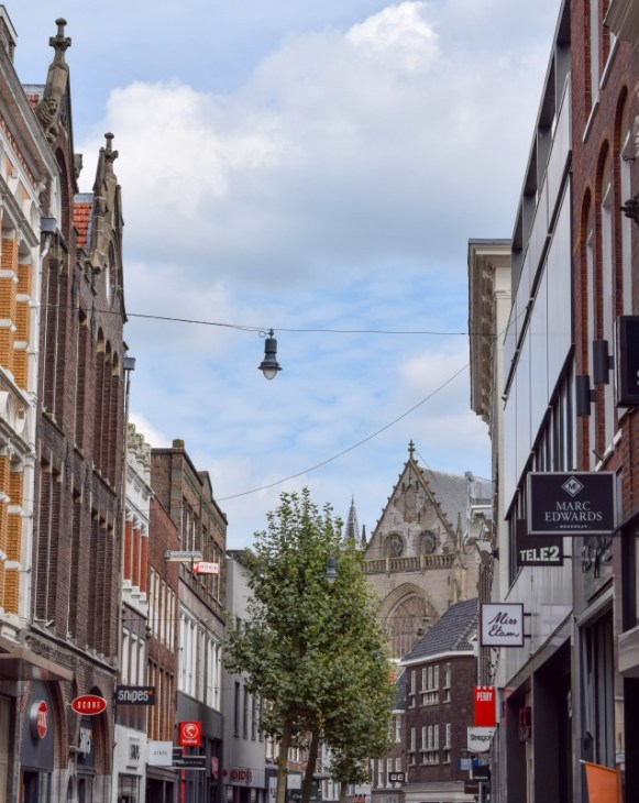 Haarlem shopping streets in the Netherlands