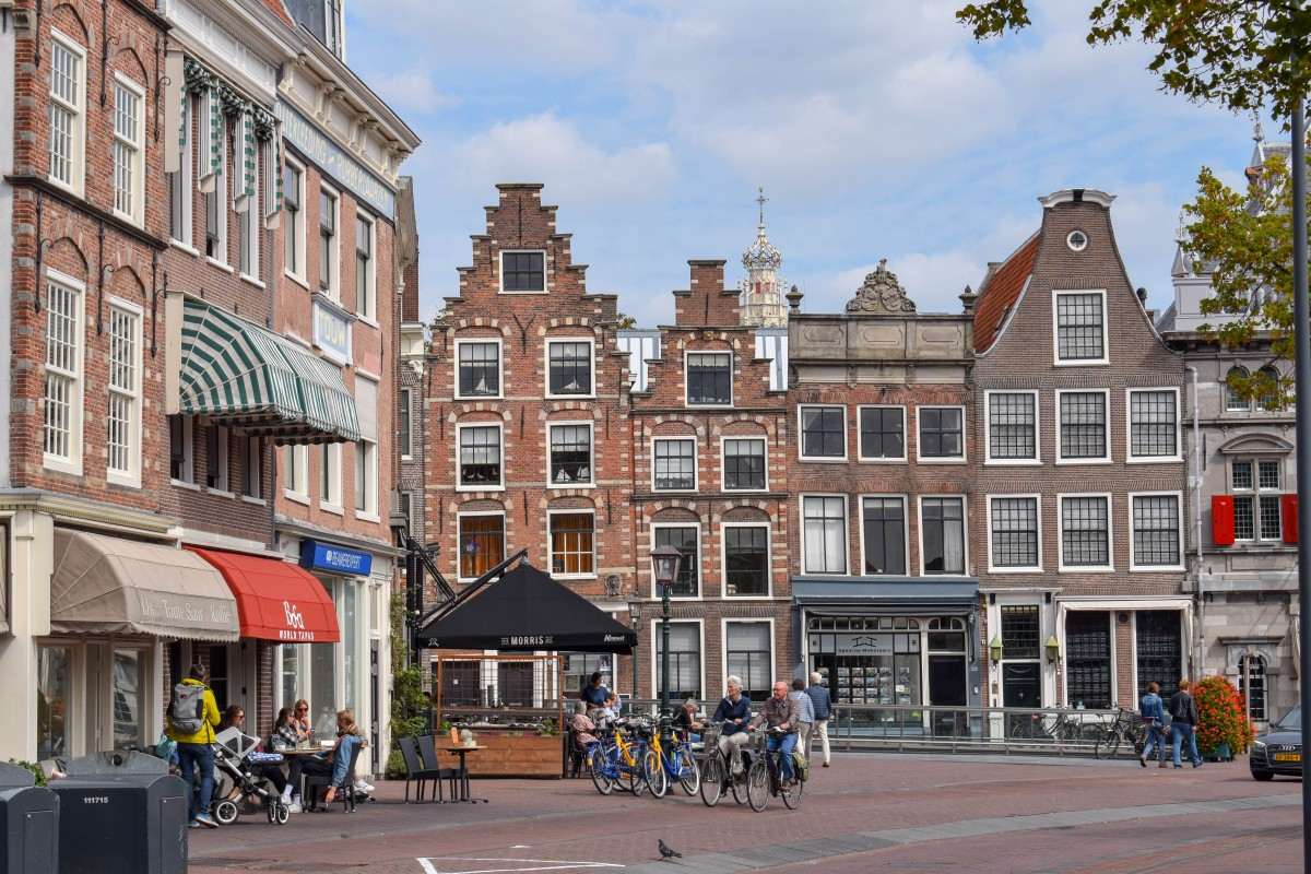 View of Haarlem architecture in the Netherlands