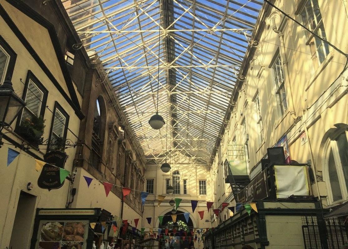 Inside St Nick's Market in Bristol