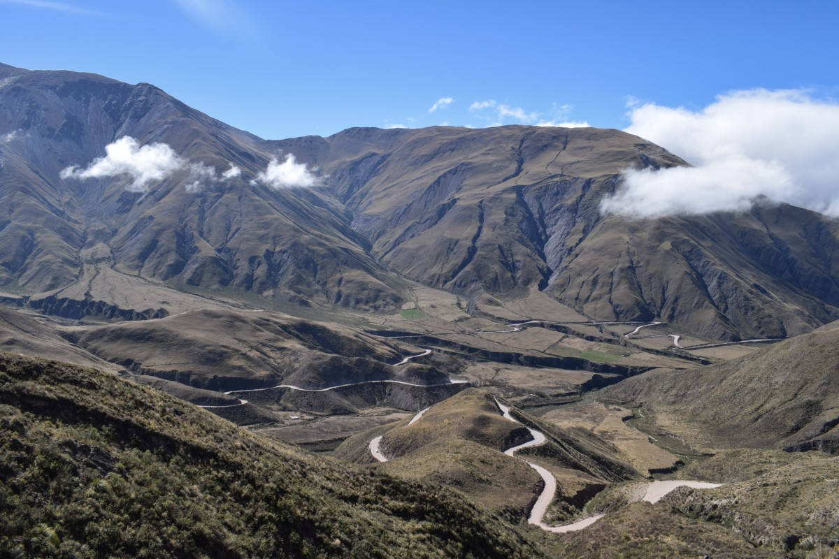 View at the top of Cuesta del Obispo, Argentina