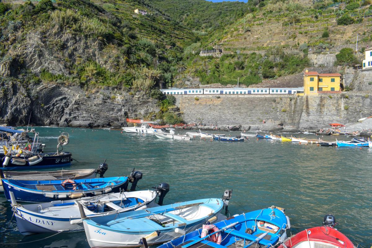 Vernazza harbour Cinque Terre Italy