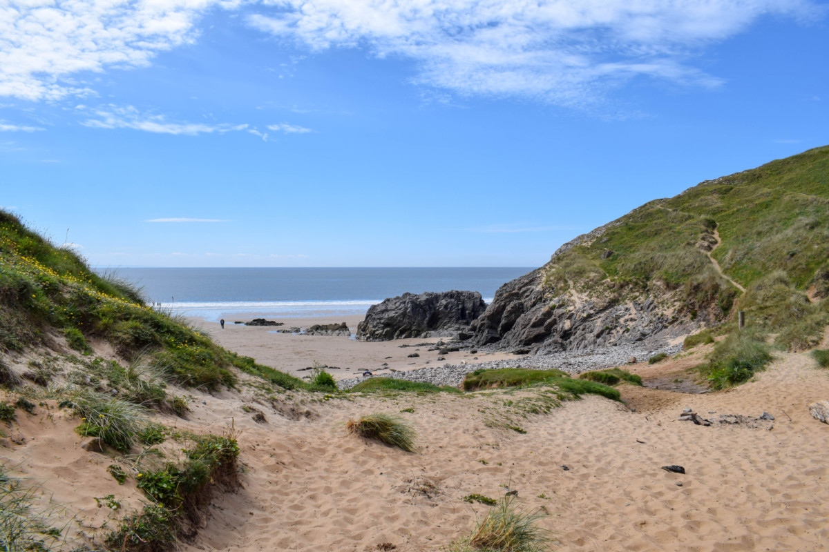 Pobbles Beach Gower Wales