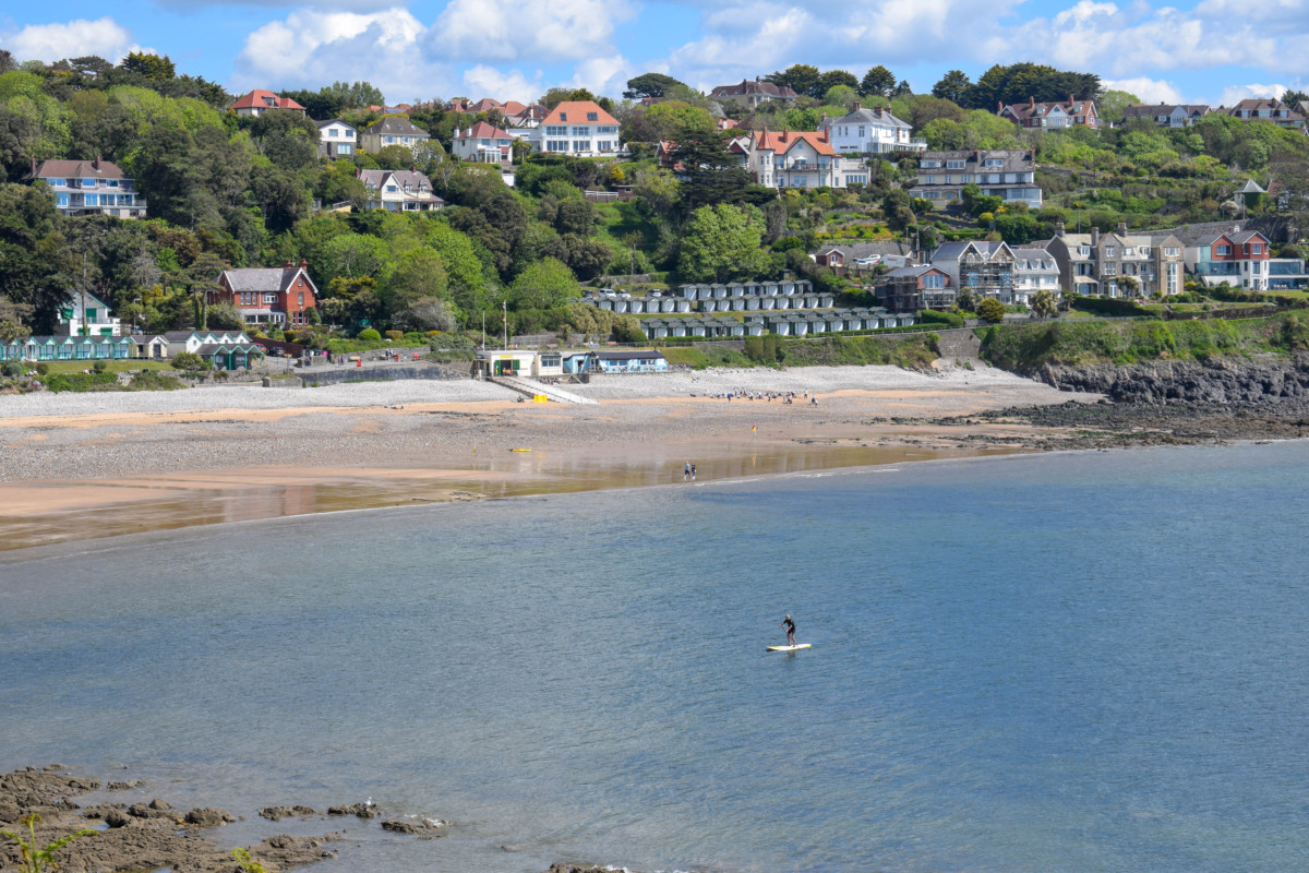 Gower hikes Wales Langland Bay paddleboarding
