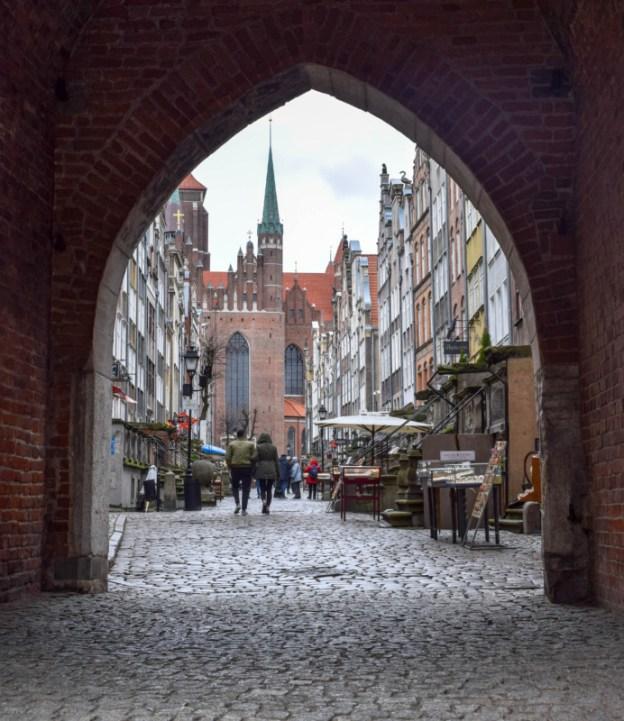 Mariacka Street Gdansk archway Poland
