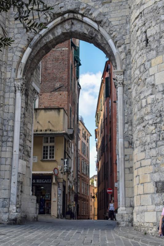 Genoa Italy Old City Walls