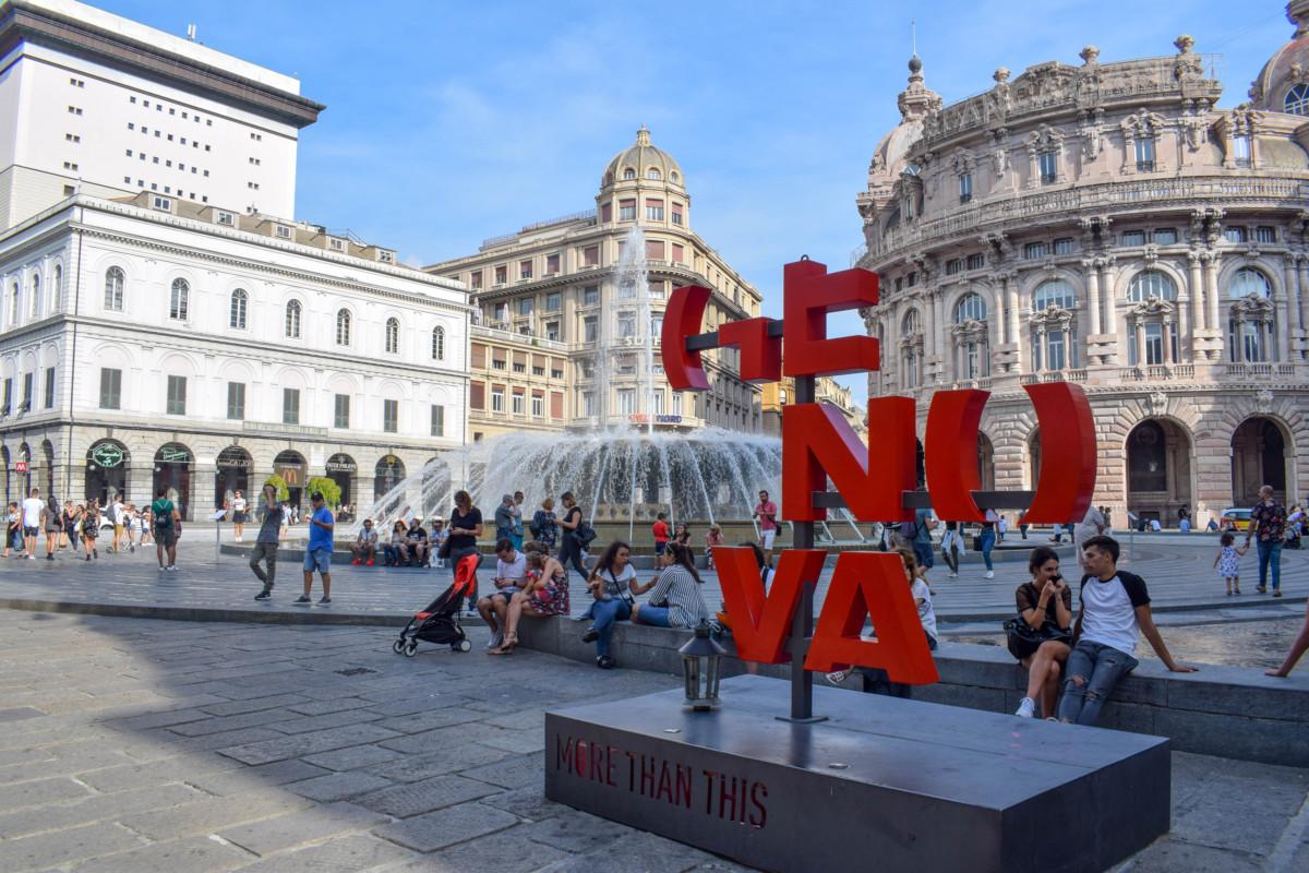 Genoa Travel Italy Weekend Piazza de Ferrari Main Square