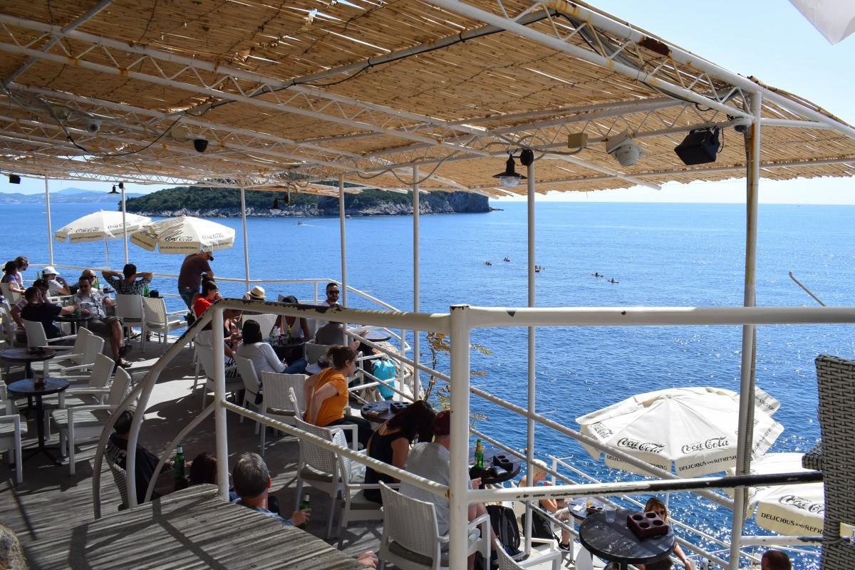 Short breaks Dubrovnik bars Buza Bar view of sea