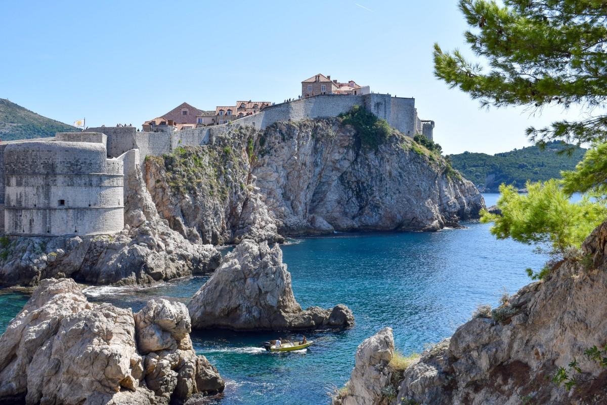 views from fort lovrijenac Dubrovnik in croatia