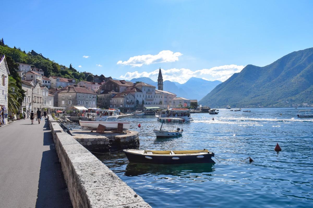 Perast waterfront Montenegro