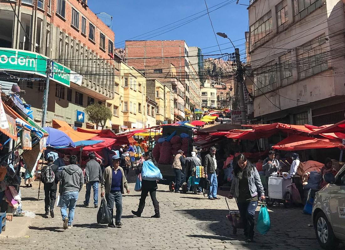 la paz rodriguez street market bolivias