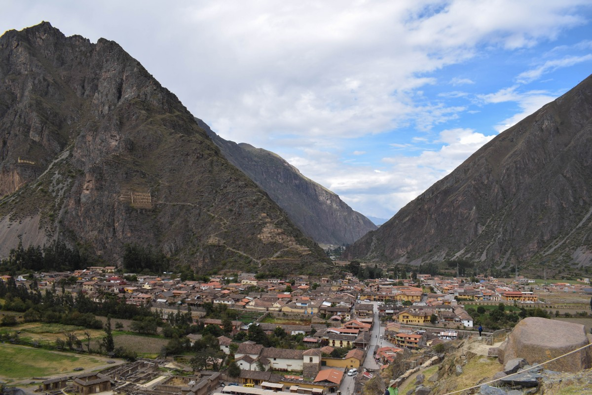 Ollantaytambo fortress view Peru Sacred Valley