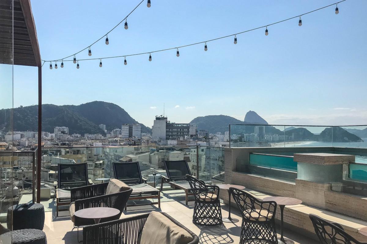 Rooftop bar and pool Ritz Copacabana Boutique Hotel Rio de Janeiro Brazil