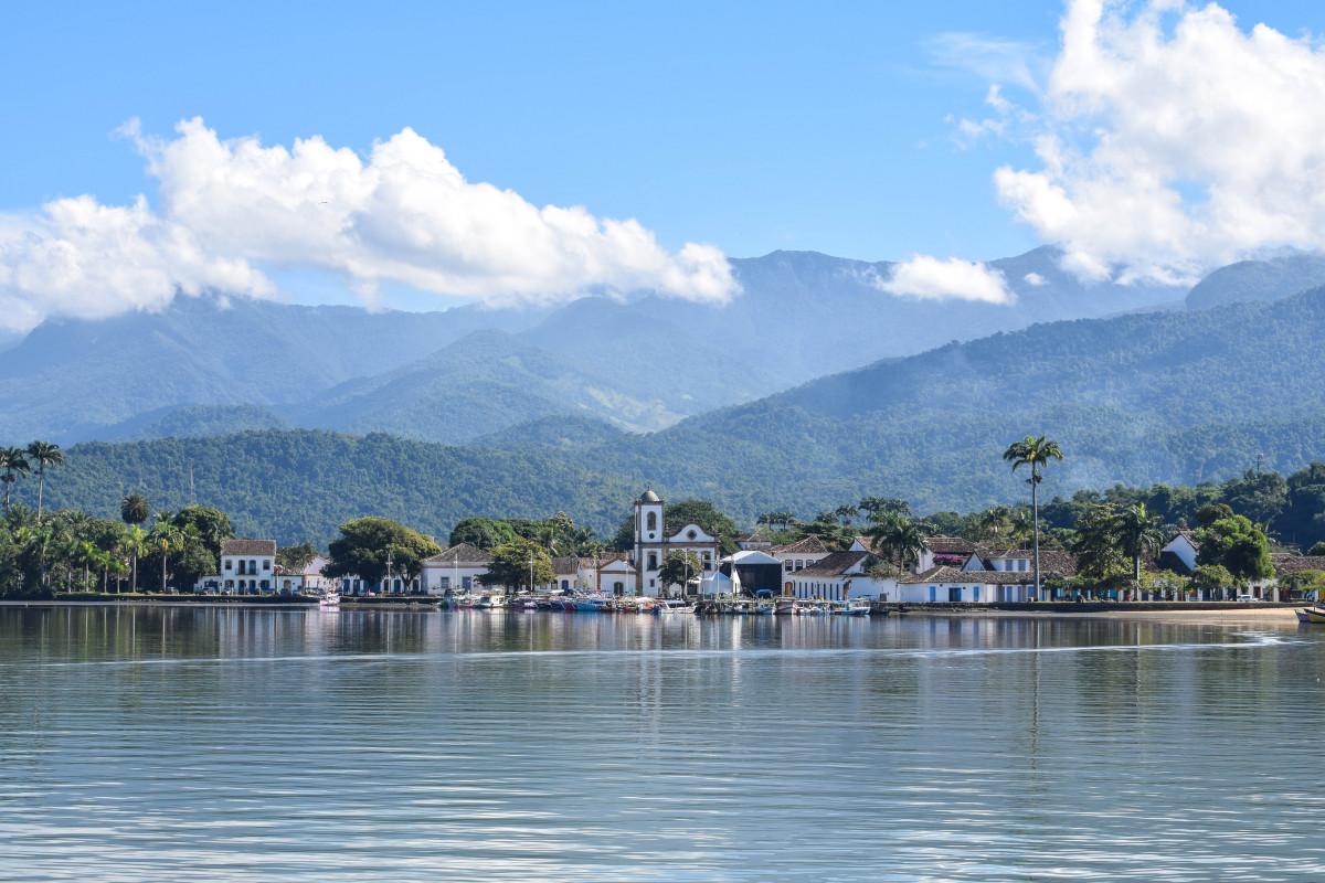 View of Paraty boat trip brazil