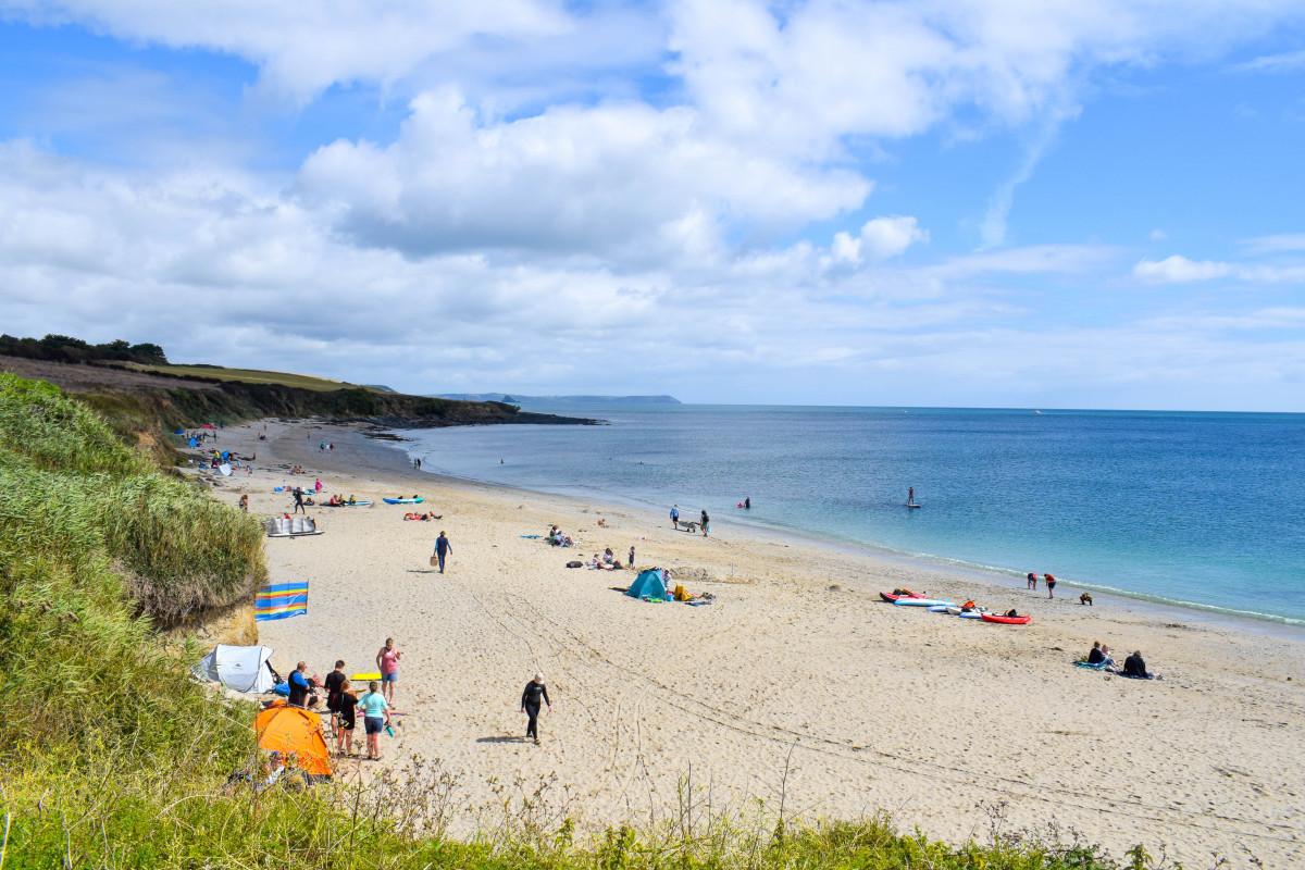 Towan Beach Cornwall Roseland Peninsula
